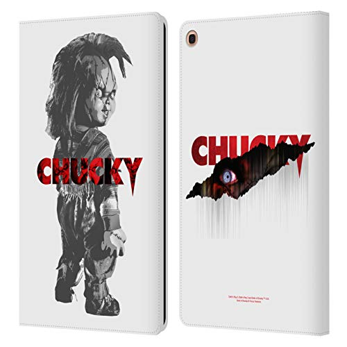 Official Child's Play Doll Key Art Leather Book Wallet Case Cover Compatible for Samsung Galaxy Tab A 10.1 2019