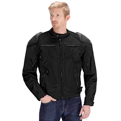 Viking Cycle Asger Motorcycle Jacket for Men (Large, Black)