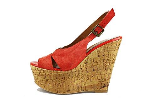 JEANNOT sandalen Damen Koralle Wildleder AG433