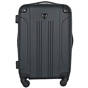 """Travelers Club 20″""""Chicago"""" Expandable Spinner Carry-On Luggage"""