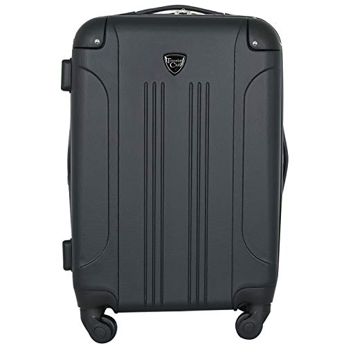 Travelers Club Luggage Chicago 20 Inch Expandable Carry-On Spinner, Black, One Size