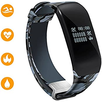 Fitness Tracker Watch with Heart Rate Monitor, Sport smart band for swimming Bluetooth 4.0 Smart