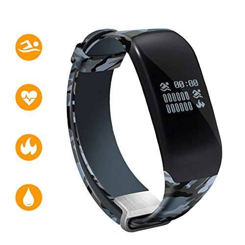 Amazon.com: Fitness Tracker Watch with Heart Rate Monitor, Sport smart band for swimming Bluetooth 4.0 Smart Bracelet Fitness Band Waterproof Swimming ...