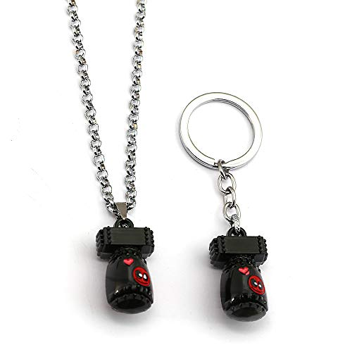 Algol - Deadpool 3D Cute Mini Bomb Keychain Metal Necklace ...
