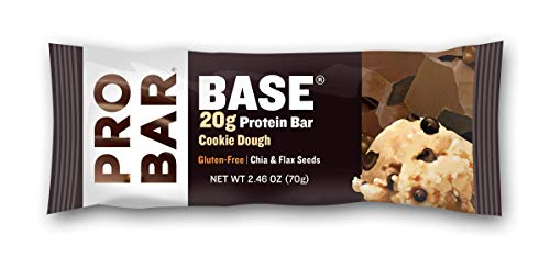 PROBAR - Base 2.46 Oz Protein Bar, Cookie Dough, 12 Count - Gluten-Free, Plant-Based Whole Food Ingredients