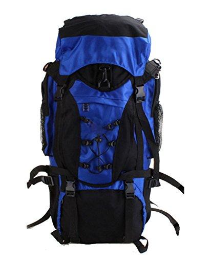 La Sra Bolsa De Gran Capacidad Masculina De Trekking De Montaña 56-75L,56-75L-blue