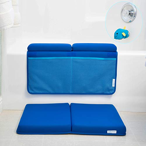 - Bath Kneeler and Elbow Rest with Faucet Spout Cover (3pc) Baby Bath Kneeling Pad Mat Extra Thick for Baby Bathtub. Bathroom Tub Bathing Elbow Pad and Knee Cushion for Infant Toy and Baby Accessories