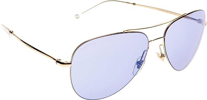6afcd9e750a Gucci Unisex GG 2245 S Gold Copper Lilac Mirror Blue  Amazon.ca ...