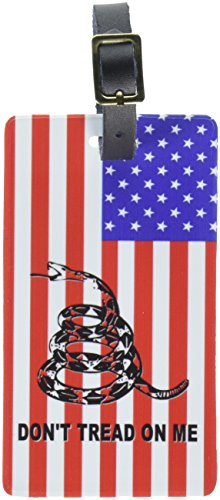 Graphics & More Gadsden Don't Tread on Me USA Flag-Tea Party Luggage Tags Suitcase Id, White ()