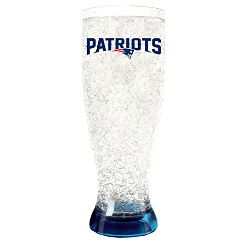 (NFL New England Patriots 16oz Crystal Freezer Pilsner)