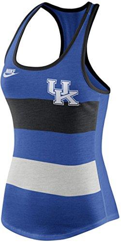 (Nike Womens Kentucky Wildcats UK Stripe Racerback Tri-Blend Tank Top Shirt (Heather Blue, XL))