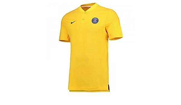 2017-2018 PSG Nike Authentic League Polo Shirt (Yellow) - Kids ...