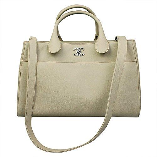 Chanel Beige Caviar Leather Tote Bag W/Strap - Chanel Shoulder Bag