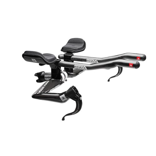 Profile Designs Aeria T2 Wing Carbon Base Bar with T2+ Carbon Aerobar Extensions Size: Black