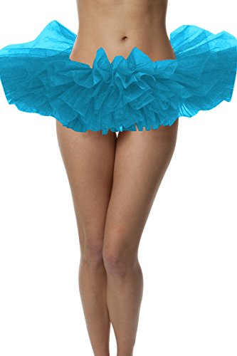 Adult Poofy Ballet Style Tutu for Holiday Costume, Princess Tutu, Ballet Tutu, Dance Outfit, or Fun Run Peacock Blue]()