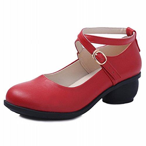 de Baile de Mujer Zapato Sandalias BYLE 37 Verano Moderno de Zapatos Baile Suave Baile de Jazz Samba Tobillo Zapatos Cuero Modern T8AwO7qz8