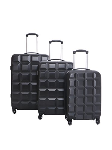 Geographical Norway Set de 3 trolleys rígidos Savana Negro