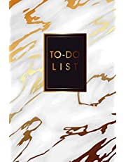 """To Do List: Marble Gold, To Do List Notebook for Work Planner, Daily Checklist Planner, Personal Planner Organizer, Business Planner Notebook, Daily Work Task Checklist, Daily Task Planner, Size 6"""" x 9"""" 100 Pages"""