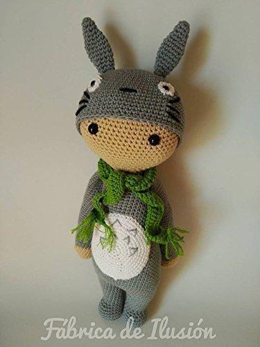 Totoro de peluche, Lalylala, muñeco de peluche, amigurumi, totoro a crochet