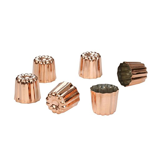 de Buyer 6820.35 Mini Canele Mold, Tinned Interior, Set of 12