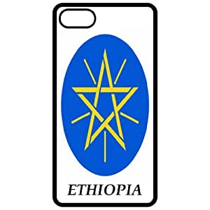 Ethiopia - Coat Of Arms Flag Emblem Black Apple Iphone 5 Cell Phone Case - Cover