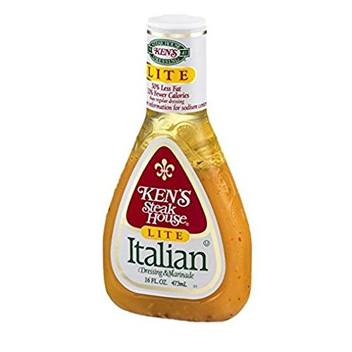 Ken's Steakhouse LITE Italian Dressing & Marinade (3 Pack) 16 oz (Kens Italian Dressing)