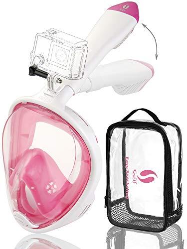 (Easybreath Snorkeling Mask Full Face Foldable 2019 Version 180 View Snorkel Mask Set Adult Youth Kids)