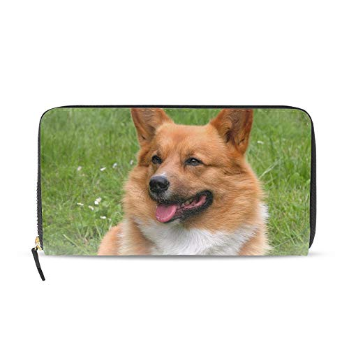- Lovely Welsh Corgi Wallets for Women Card Holder Zipper Purse Phone Clutch Wallet
