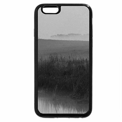iPhone 6S Plus Case, iPhone 6 Plus Case (Black & White) - beautiful foggy sunrise