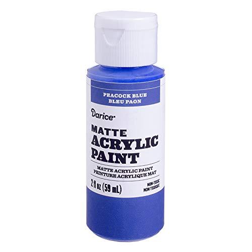 Darice DPCS198-63 Matte Peacock Blue, 2 Ounces Acrylic ()