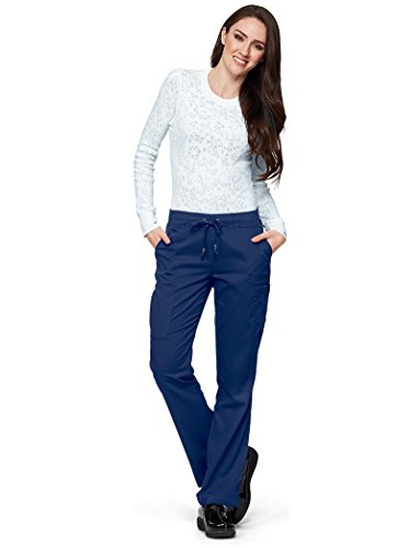 Grey's Anatomy 6-Pocket Flat Front Pant for Women – Modern Fit Medical Scrub Pant