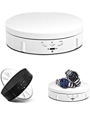 JAYEGT Motorized Rotating Display Stand, 5.74inch /22LB Load, 360 Degree Turntable Display Stand for Photography Products Shows, Jewelry, Watch, 3D Models, Cake,Battery/USB Power Supply(White