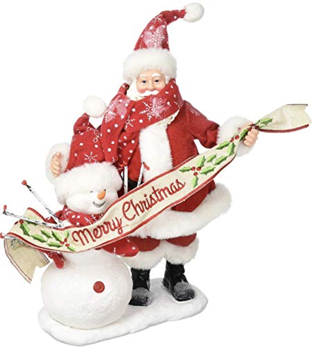 "Possible Dreams Santa Claus & Snowman ""In The Meadow"" Christmas NIB 4057125"