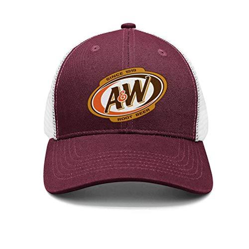 (jdadaw A&W-Root-Beer Logo Woman Man Baseball Caps Cotton Trucker Hats Vintage Snapbacks)