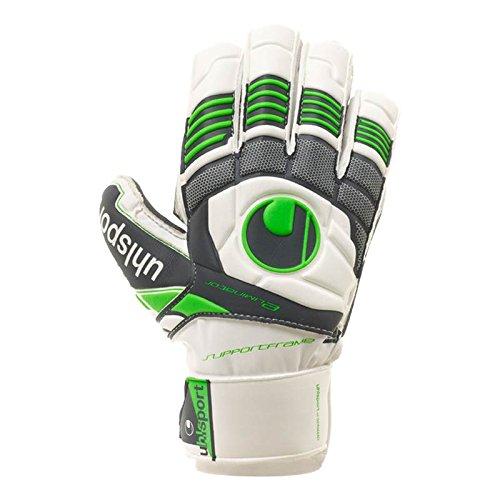 ウールシュポルトエリミネーターソフトgraphitサポートフレームサッカーゴールキーパーグローブ(ホワイト/グリーンフラッシュ、サイズ7 ) B00KPT0SHQ