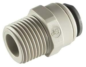 JOHN GUEST - 0,48 cm diámetro X 0,64 cm macho STR BSPT - adaptador de rosca (push-en accesorios, Imperial) - TAMAÑO DEL PAQUETE: 1 x 5