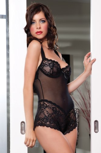 Seven Til Midnight Women's Parisian Lace Teddy