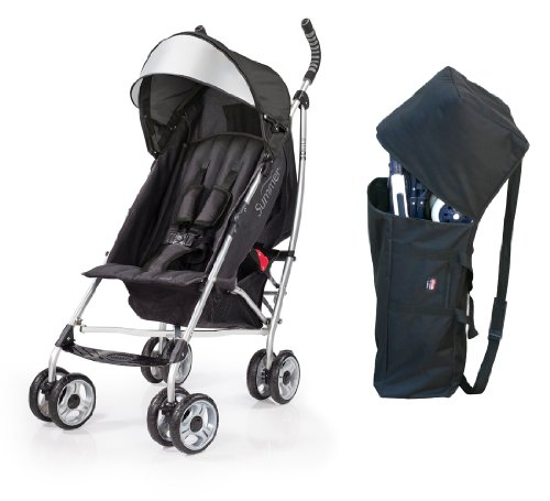 Summer Infant 3D Lite Convenience Stroller with Padded Travel Bag, Black by 3DLite