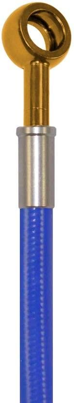 Blue Hose /& Stainless Gold Banjos Pro Braking PBF4742-BLU-GOL Front Braided Brake Line