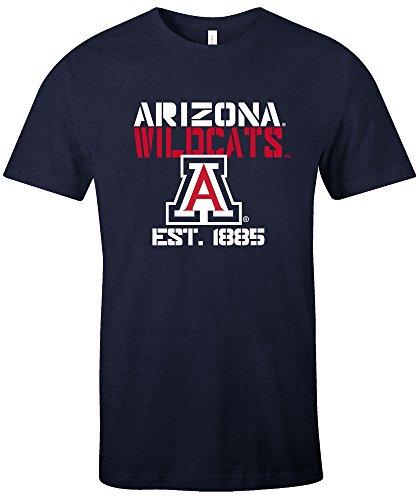 NCAA Arizona Wildcats Est Stack Jersey Short Sleeve T-Shirt, Navy,Medium ()