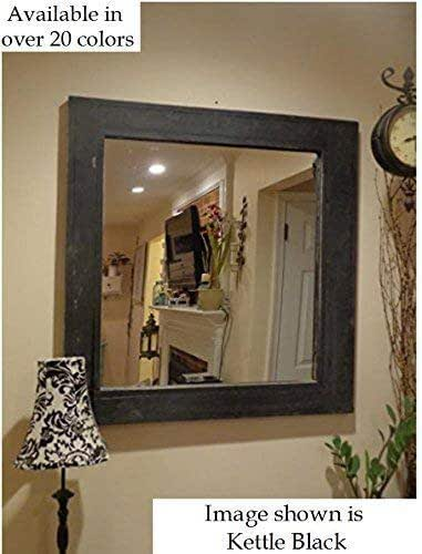 Amazon.com: Square Frame Herringbone Reclaimed Wood Mirror