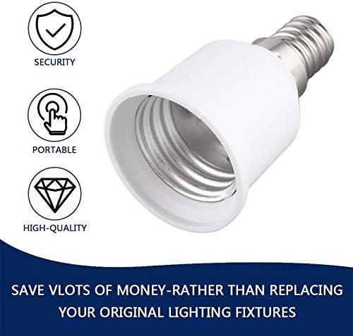 60 30 30MM RoxTop E14 /À E27 Support De Lampe Professionnel Douille De Lampe Durable Maison Douille Portable Liaght Adaptateur Lumi/èRe Accessoires; Blanc