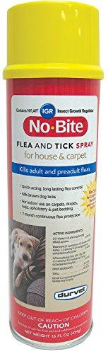 Flea Spray Igr (Durvet 011-1134 No Bite IGR Flea & Tick House & Carpet Spray, 16)
