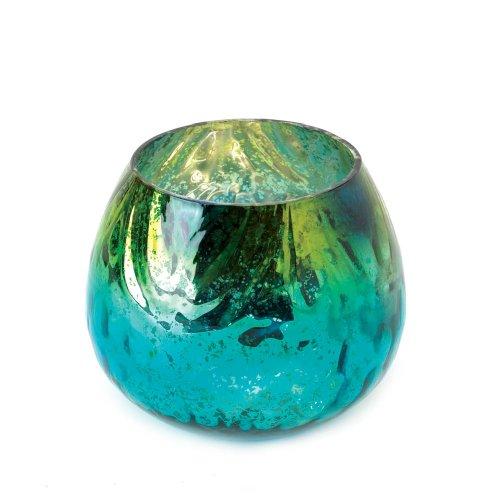 Home Locomotion Peacock Glass Tealight Candleholder -