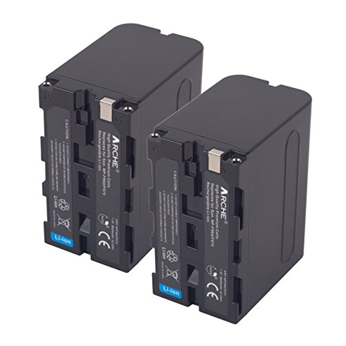 ARCHE NP-F970 NP F975 F960 F950 Replacement Battery <2 Pack> for [Sony DCM-M1 MVC-CD1000 HDR-FX1 DCR-VX2100E DSR-PD190P NEX-FS700RH HXR-NX3 HVL-LBPB and more Camcorder] by ARCHE