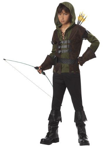 Big Boys' Robin Hood Costume (Small, Green) (Costume For 11 Year Old Boy)