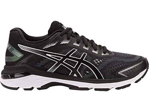 ASICS Women's GT-2000 7 Running Shoes, 8.5M, Black/White
