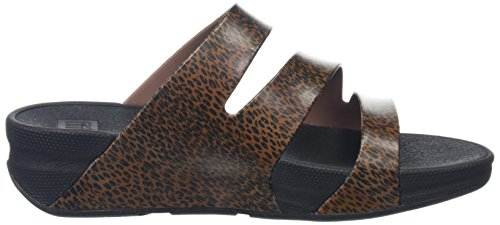 Fitflop Superjelly Twist Leopard - Sandalias Mujer Multicolour (Cheetah Brown)