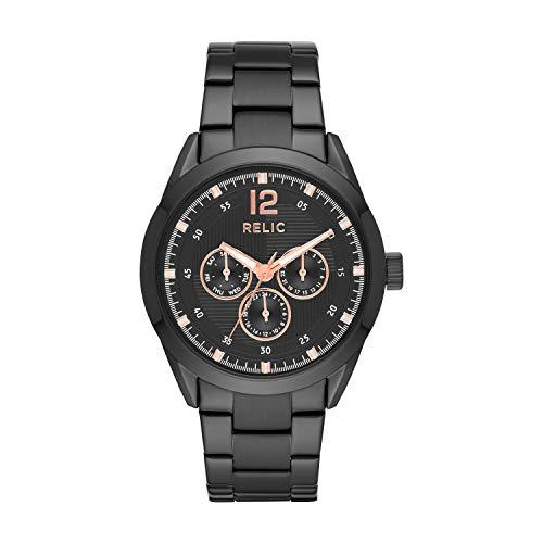 Relic by Fossil Men's Weston Quartz Stainless Steel Sport Watch, Color: Black (Model: ZR15963)