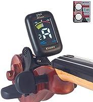 Eno Professional Violin Viola Tuner, Colorful LCD Display Easy Control Clip on Accurate Violin Tuner (ET-05SV)